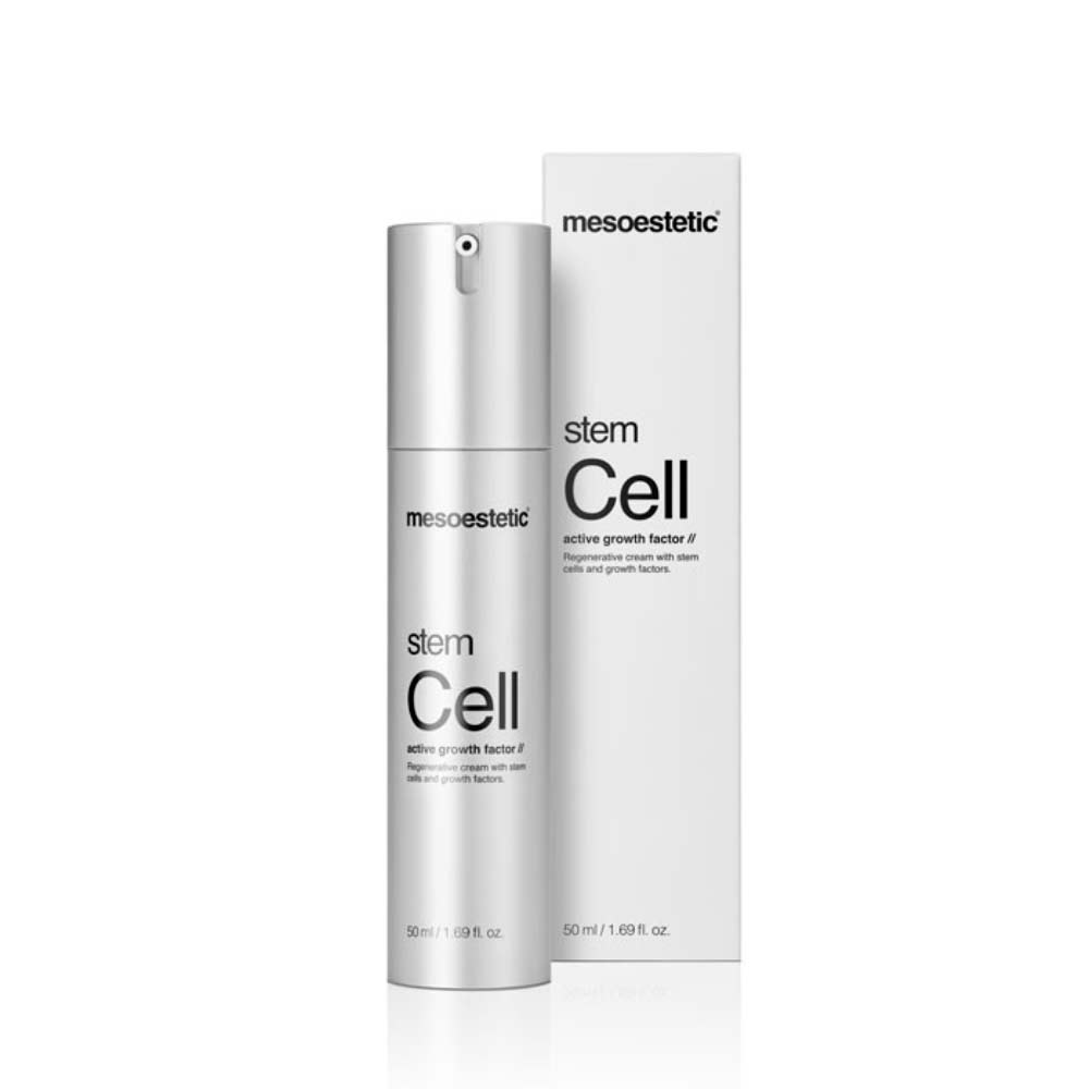 Produkt Foto Mesoestetic Stem Cell active groth factor mit Verpackung - Praxis Adelma Duda