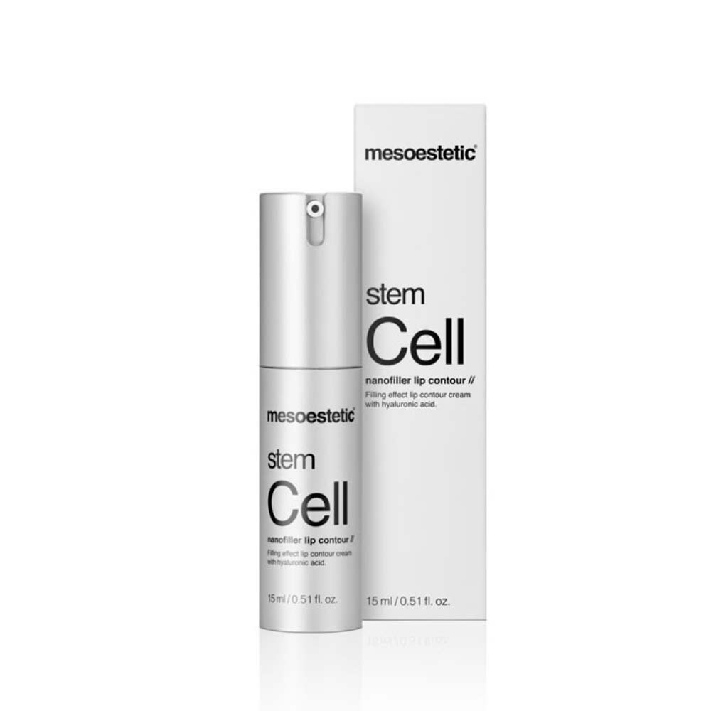 Produkt Foto Mesoestetic Stem Cell nanofiller lip contour mit Verpackung - Praxis Adelma Duda