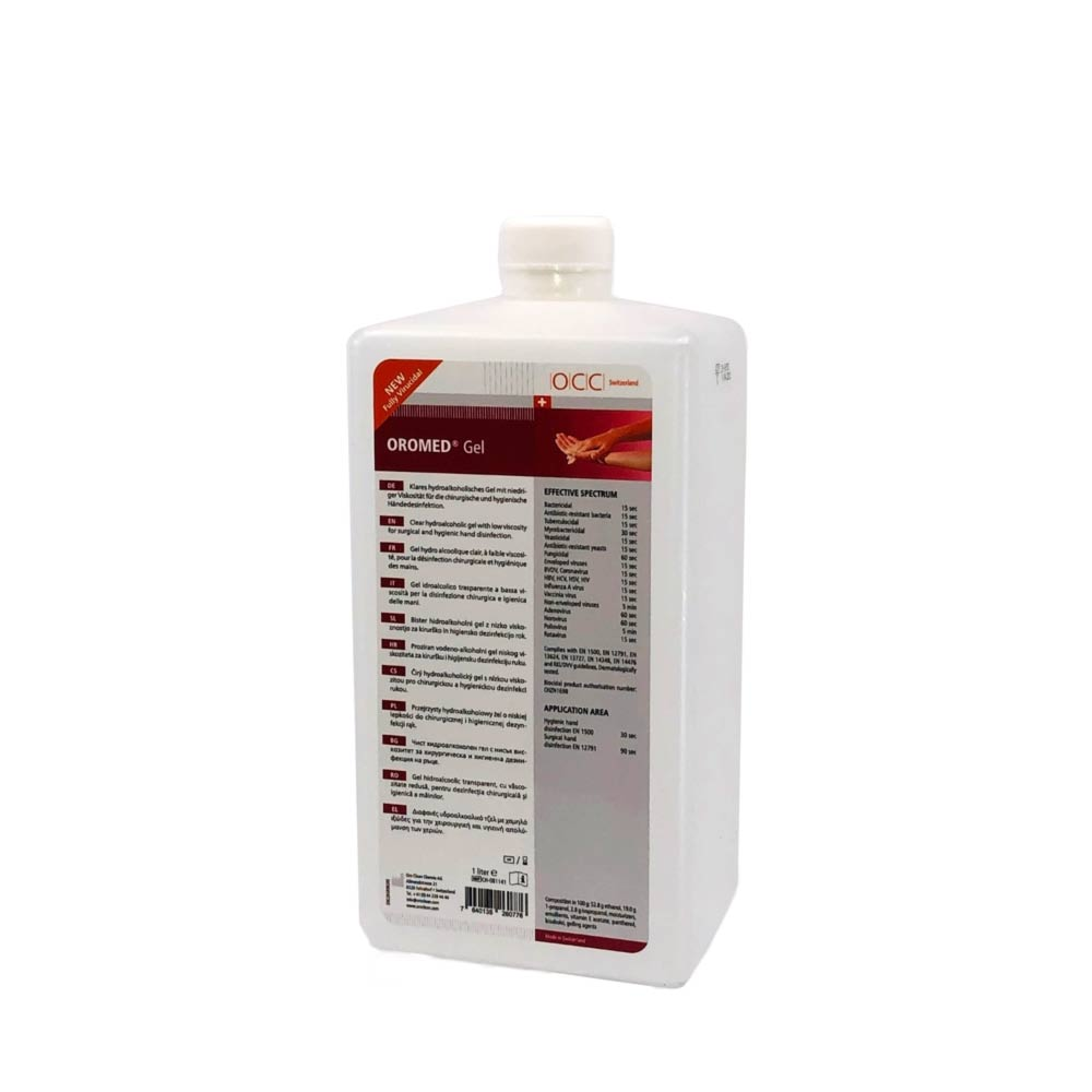 Produktbild OCC Switzerland OROMED Gel 1000ml in EURO Flasche Handesinfektion